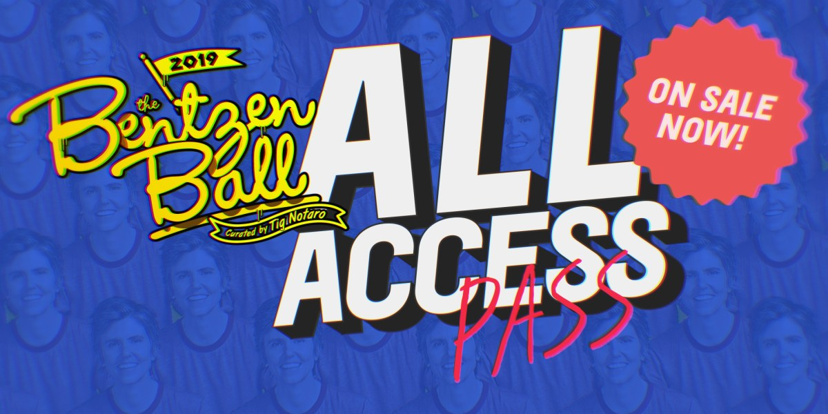 bentzen ball comedy festival 2019 all access pass