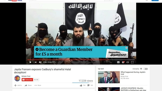 Google at risk of losing advertisers following it's refusal to tackle extremist YouTube videos