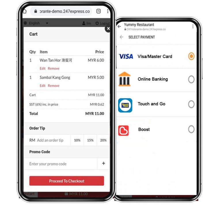 food ordering payment