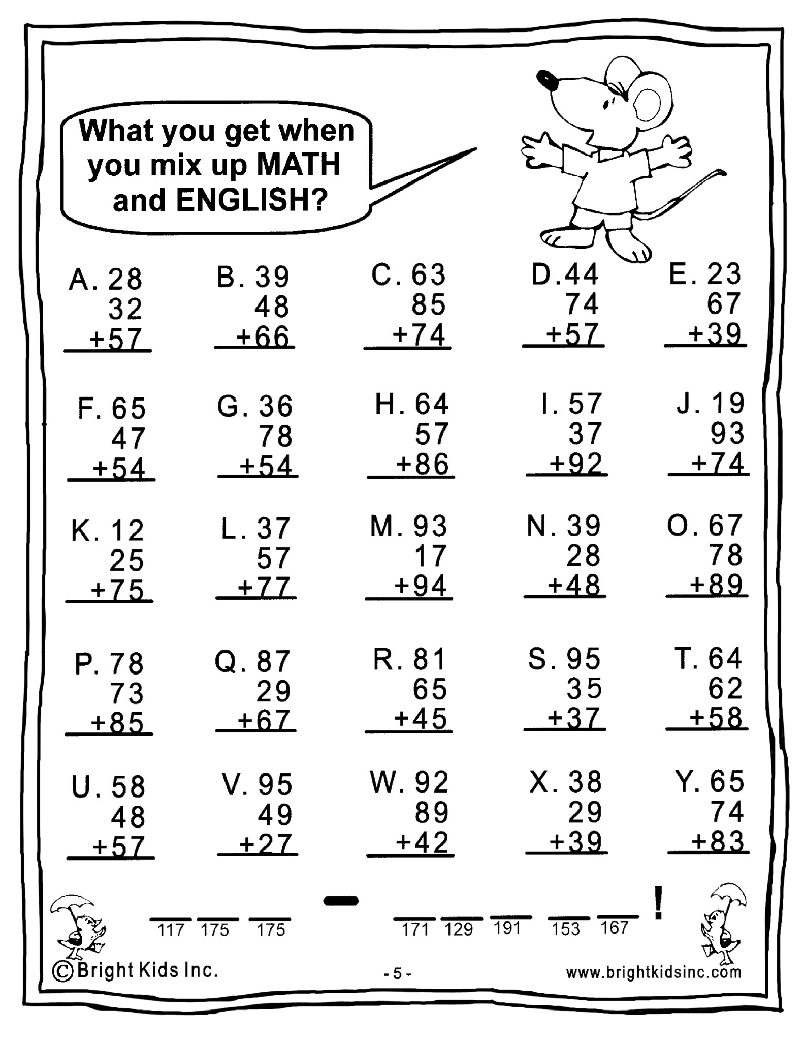 Math Worksheet For 4 Grade