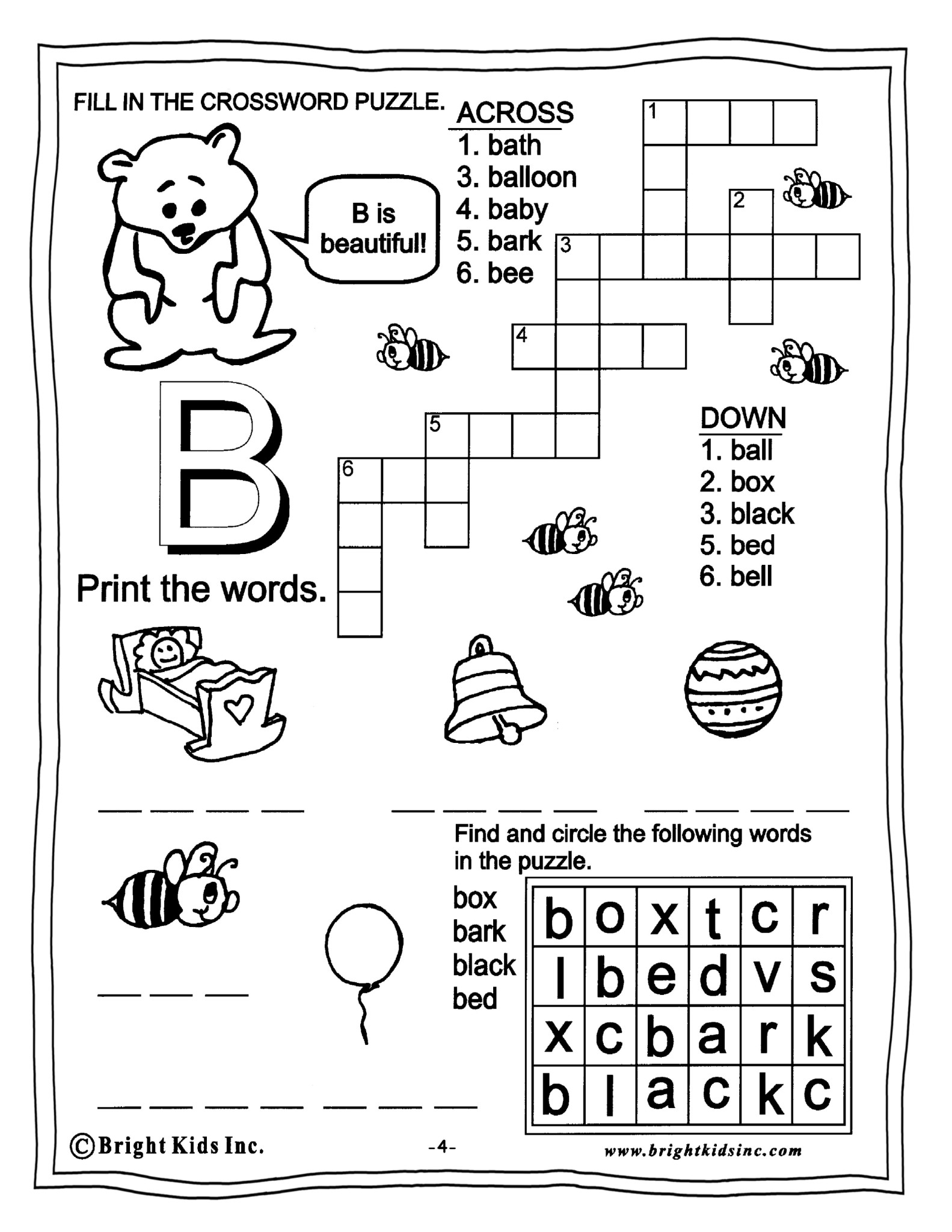 Word Search Vocabulary Worksheet Grade 4