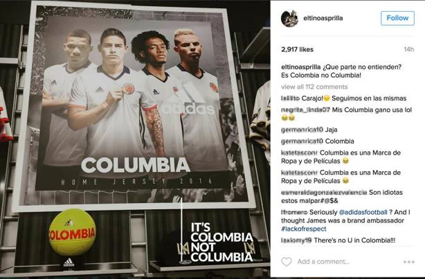 Adidas, there's no U in Colombia!