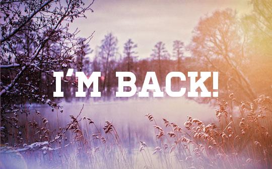 I'm back and backed up!