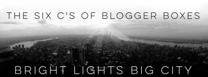 The six C's of blogger boxes