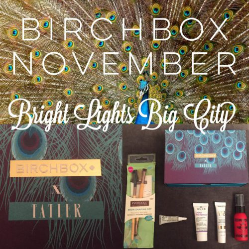 Birchbox November – my first subscription box