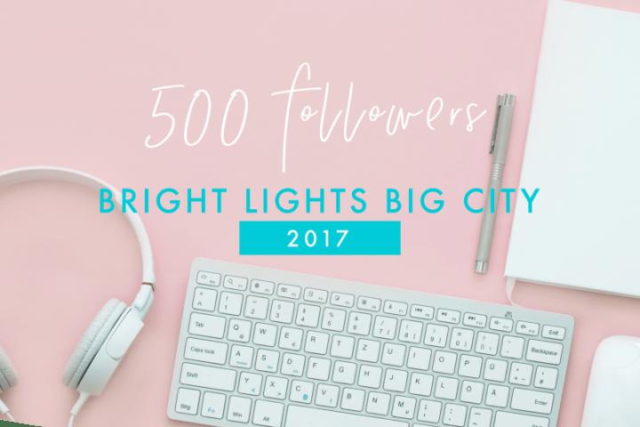 Bright Lights Big City reaches 500 followers