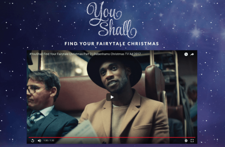 Creative Campaigns #20 – #YouShall Debenhams Christmas advert