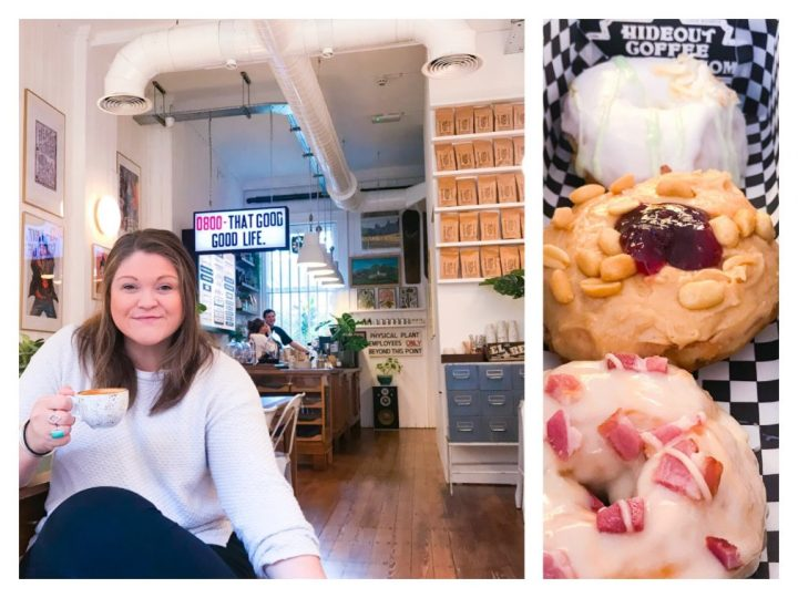 Doughnuts and coffee at Hideout Coffee Company in Portsmouth