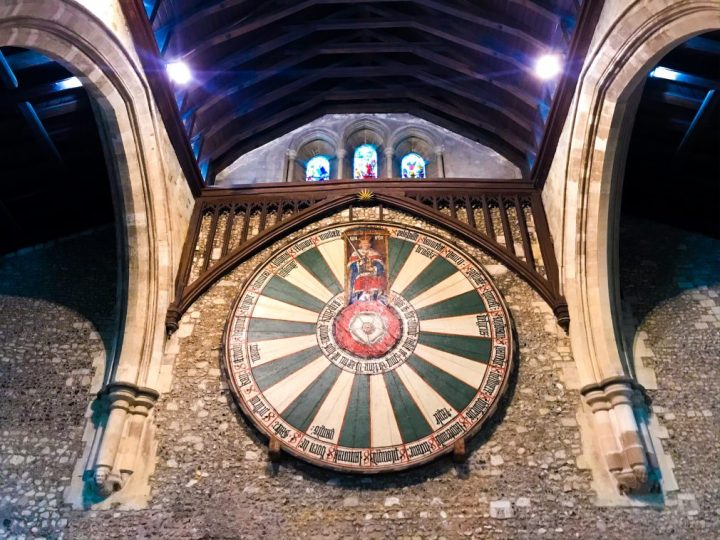 King Arthur's Round Table & The Great Hall in Winchester, Hampshire