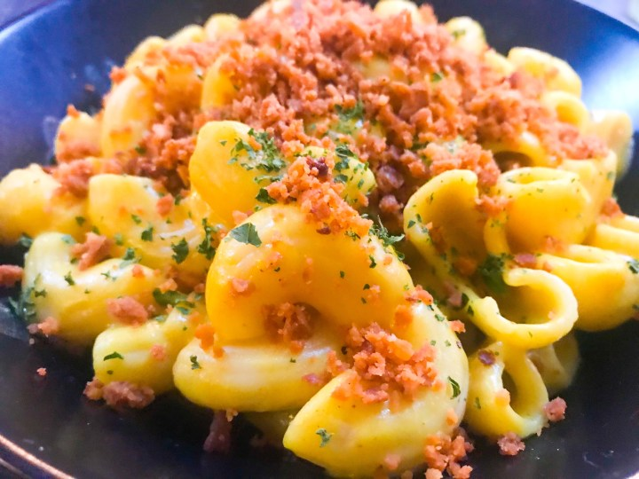 Mac n Cheese at Hunter Gatherer in Portsmouth, Hampshire.