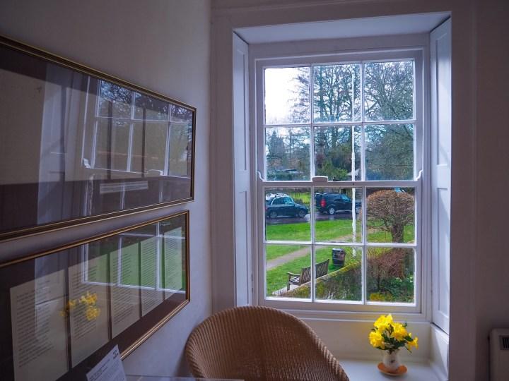 The first floor window view of Jane Austen's Garden