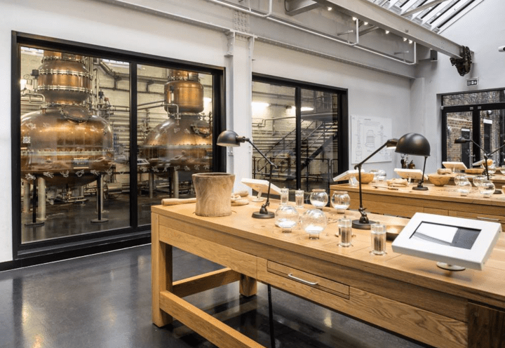 The tasting room at the Bombay Sapphire Distillery in Hampshire