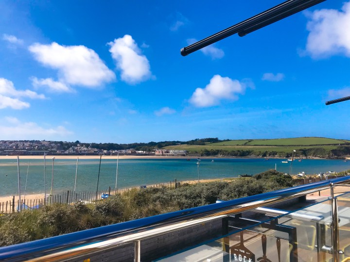 The view from The Rock Pizza Co. in Rock, over the water from Padstow in Cornwall