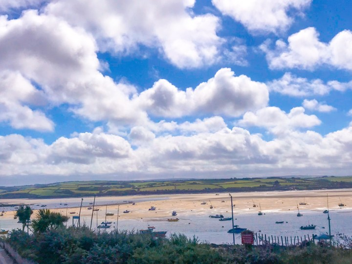 The River Camel estuary view from the restaurant