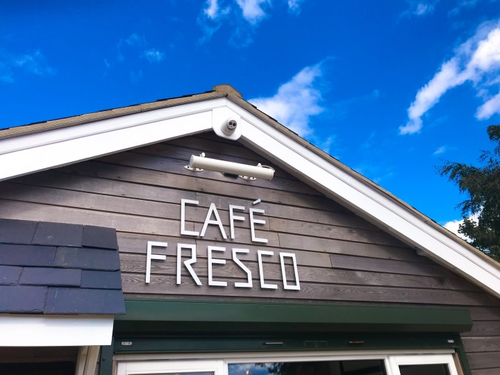 Cafe Fresco by Canoe Lake in Southsea, Portsmouth, Hampshire