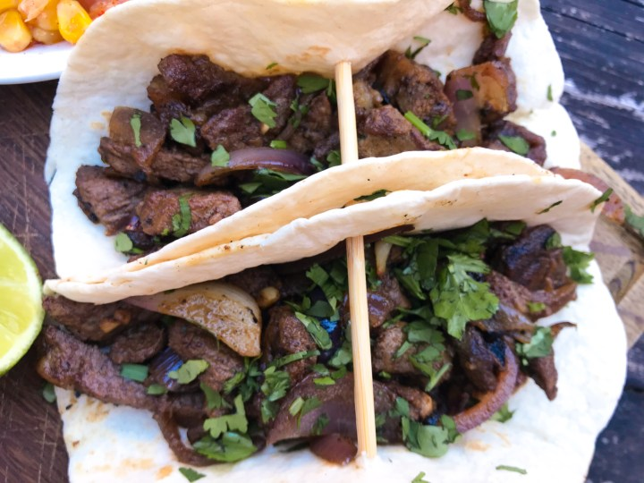 Rib Eye Tacos at Taco Tuesday at Mi Cocina in Winchester, Hampshire