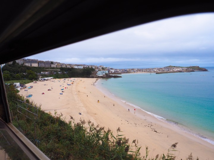 The train from St Erth to St Ives