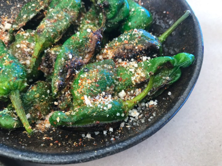 Padron Peppers at Prawn on the Farm, Padstow, Cornwall