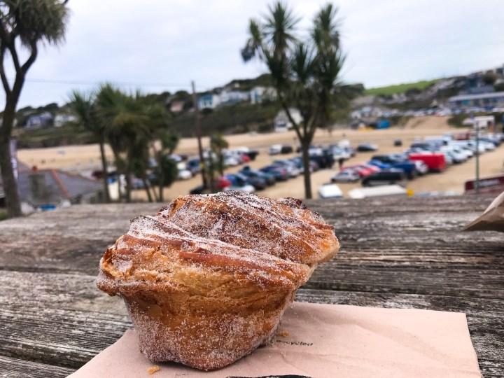 A cinnamon bun from Da Bara Bakery in Truro