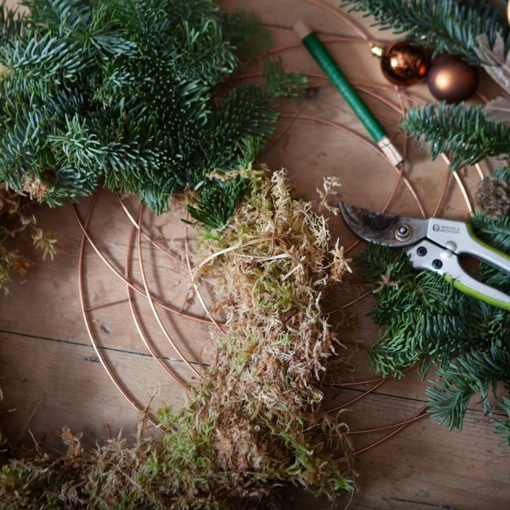 Rose Clover on Christmas Wreath Making Kits from Hampshire Florists