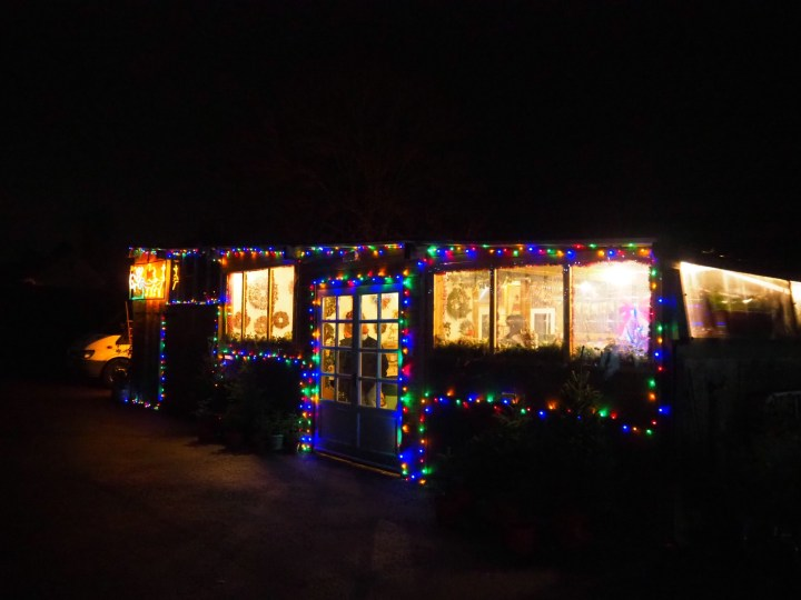 The Christmas Cabin at J West Christmas Trees in Titchfield, Hampshire