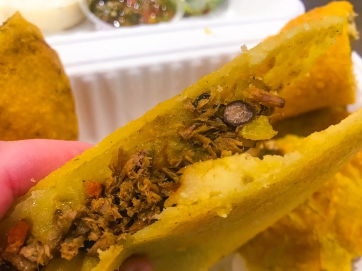 Arepa from Latin Food At Home, Colombian take away food from Portsmouth, Hampshire