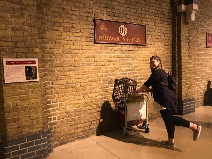 Platform nine and three quarters at Warner Bros. Studio Tour - The Making of Harry Potter
