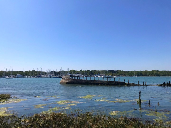 A wreck along the walk by the River Hamble from Warsash