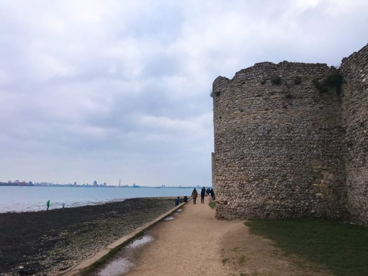 Walk around Portchester Castle