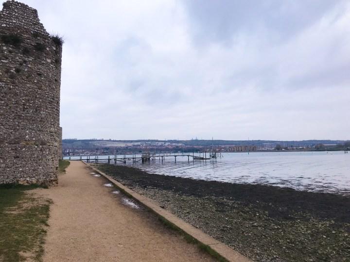Walk around Portchester Castle in Hampshire