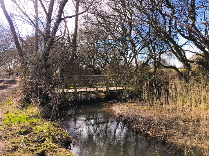 One of the bridges along the Titchfield Canal.