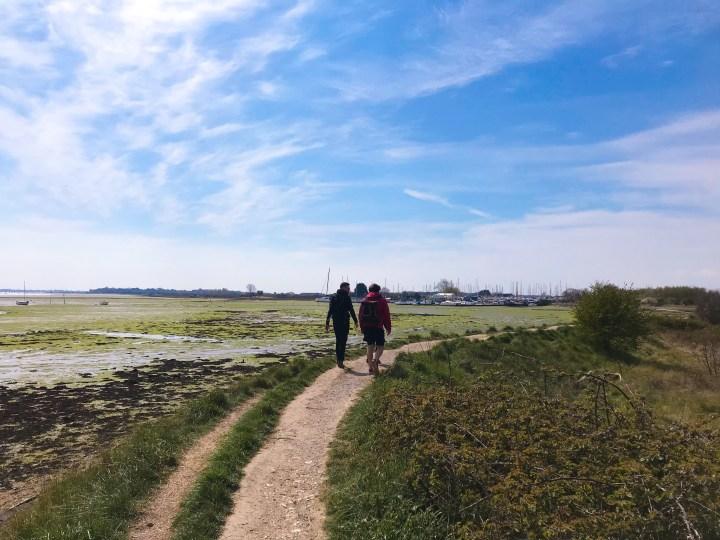 The start of the walk around Thorney Island