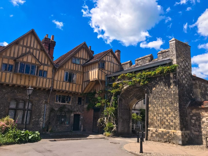Kings Gate behind Winchester Cathedral on the Winchester Walking Tours