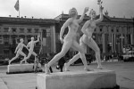 Statues of the ideal female body in the streets of Berlin, raised on the occasion of the 1936 Summer Olympics.