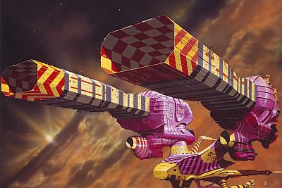 """Guild Tug"" art by Chris Foss"