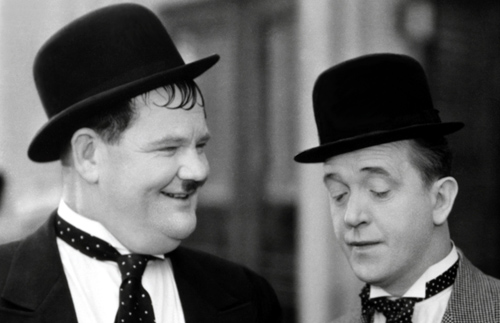 Laurel and Hardy in Thicker Than Water