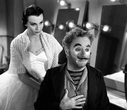 Claire Bloom and Chaplin in Limelight