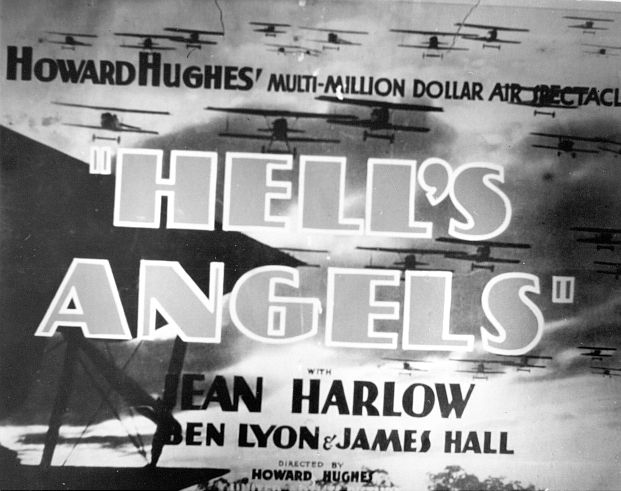 Title frame for Hell's Angels. Courtesy of Photofest.
