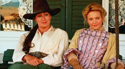 With Diane Lane )right) in Lonesome Dove