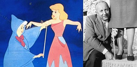 Figure 4: The fairy godmother as Christian Dior, here photographed while measuring the hem of a skirt.