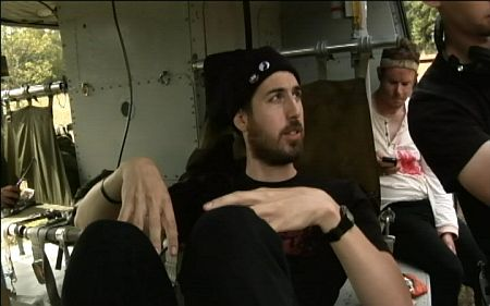 Ti West on the set of The Sacrament