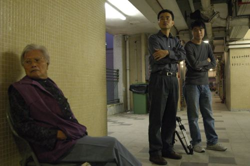 Cheung King-wai (center) directing <em>All's Right with the World</em> (2008).