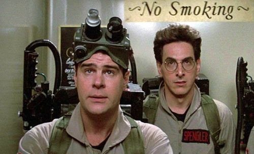 Dan Aykroyd and Harold Ramis