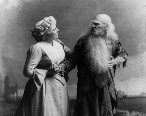 Dame and Rip Van Winkle in a 1903 film