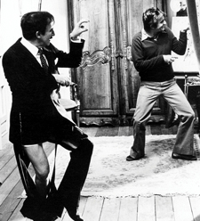 Peter Sellers and Blake Edwards on the set of The Pink Panther