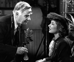 With Henry Travers in Mrs. Miniver