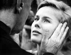 Persona: Gunnar Björnstrand as Mr. Vogler and Bibi Andersson as Alma, the Nurse