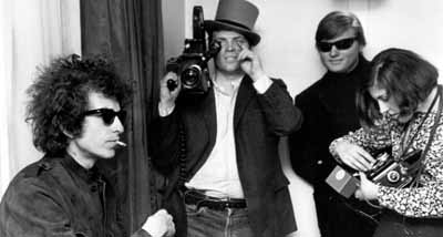 Dylan, D.A. Pennebaker and crew