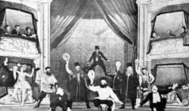 A still of the original 'Mumming Birds' stage production