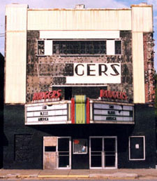 Rodgers' Theater, 'the very theater in which I sat,' closed for good in the 1990s.